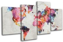 Watercolour  Abstract Maps Flags - 13-6014(00B)-MP04-LO